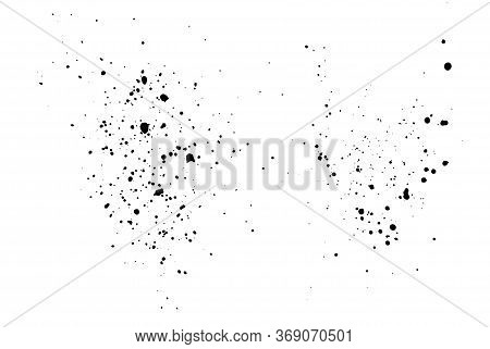 Dirty Grunge Texture, Splashes Of Paint, Drops Of Dirt. Vector Illustration Isolated On A White Back