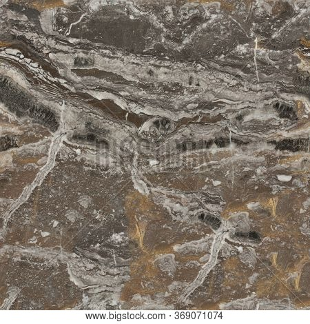 Close Up Of Granite Stone Background. Seamless Square Texture, Tile Ready.