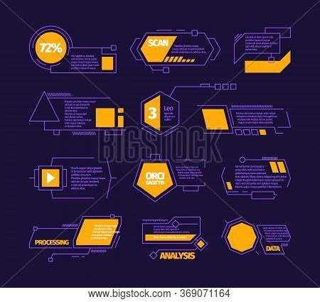 Digital Callouts. Modern Web Layout Communication Infographic Textboxes Weather Dashboard Vector Ban