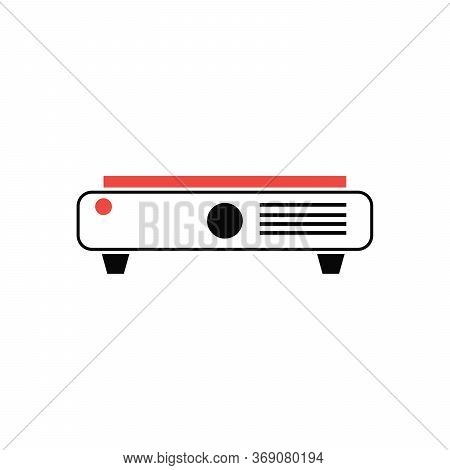 Presentation, Movie, Film, Media Projector Vector Illustration Simple Modern Line Icon, Symbol, Pict