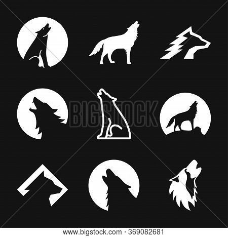 Wolf Vector Icon. Animal Symbol Isolated On Background.