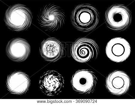 Set Of The Abstract Swirls Icons. Vector Illustration.