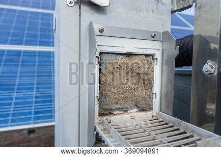 Dust Filter For The Control Cabinet Is Very Dirty Needs To Be Replaced By A New One For Effective Du