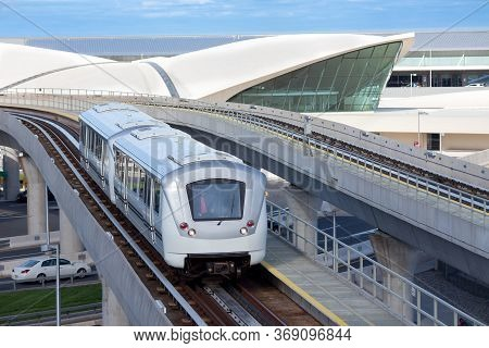 Queens, New York, United States - May 11, 2011: Airtrain At John F. Kennedy International Airport