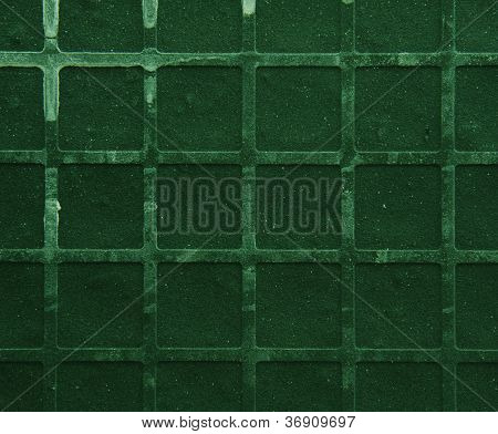 Seamless tileable grunge green square marble stone background poster