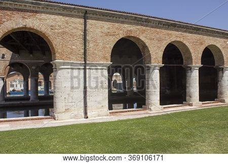 Venice, Italy - May 28 2016: Ancient Building Of Venice Arsenale Complex, Italy