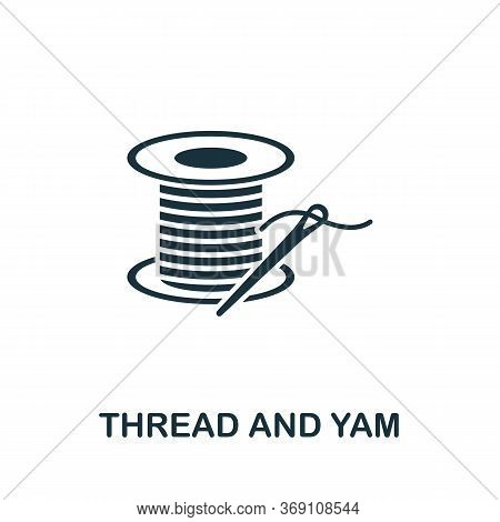 Thread And Yarn Icon. Simple Illustration From Sewing Equipment Collection. Creative Thread And Yarn