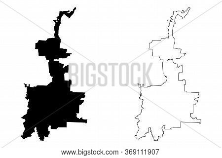 Medan City (republic Of Indonesia, Sumatra Island) Map Vector Illustration, Scribble Sketch City Of