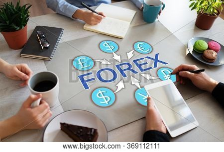 Forex Trading Investment Currency Exchange Business Finance Concept Chart On Office Desktop.