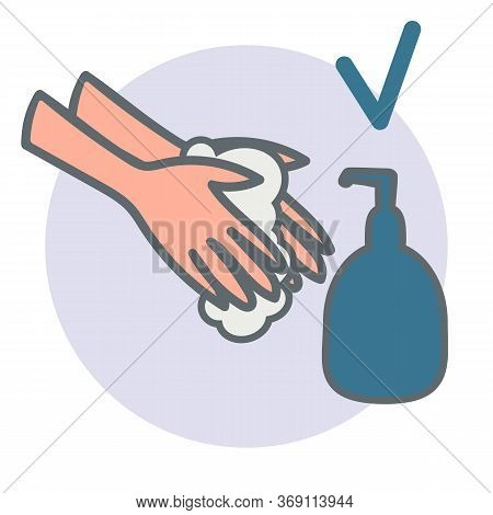 Close-up Hands Using Soap. Concept Measure To Prevent Coronavirus Spreading During Quarantine Time 2