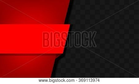 Striped Label Graphic Red On Carbon Kevlar Black Pattern For Banner, Red Frame Graphic Kevlar Black