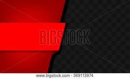 Striped Label Graphic Red On Carbon Kevlar Black Pattern For Banner, Red Frame Graphic Kevlar Black