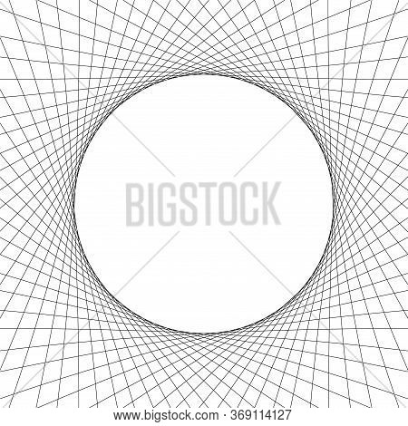 Circle Wave Art Lines Abstract For Background, Optical Line Wave Twirl Black And White, Dynamic Moti