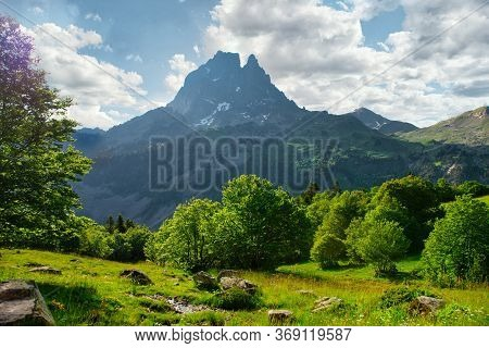 Aa Pic Du Midi Ossau In The French Pyrenees Mountains