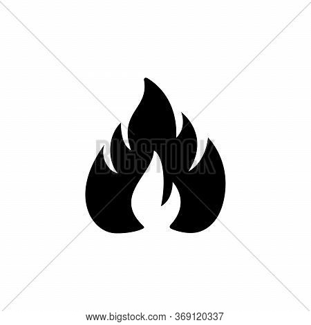 Fire Or Flame Glyph Icon Isolated On White. Blaze Symbol, Hot Concept, Bonfire, Flaming Object, Silh