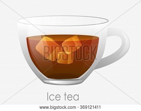 Iced Tea Cup. Tea Earl Gray Dark