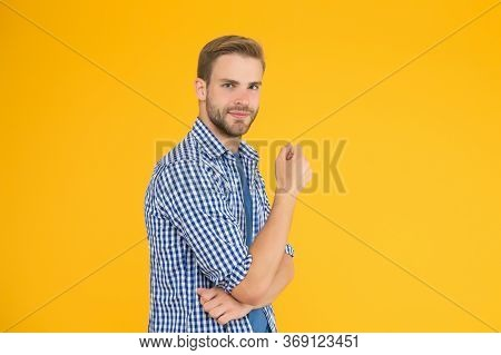 Daily Outfit. Man Model Clothes Shop. Good Idea. Positive And Good Vibes. Cheerful Mood. Man Looks H