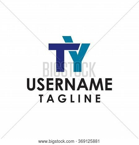 Ty W Y Letter Logo With Minimalist Lines Texture