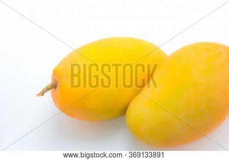 Close Up Mango Isolated On White Background.