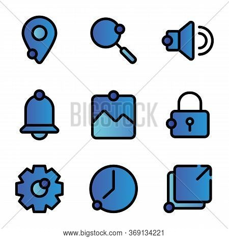 User Interface Icon Including Location, Pin, Direction, Map, Find, Search, Magnifier, Ui, Audio, Sou