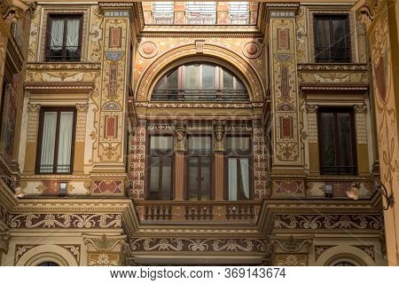 Covered Passage Of Galleria Sciarra Building, Decorated In Liberty Style With Allegoric Paintings, N