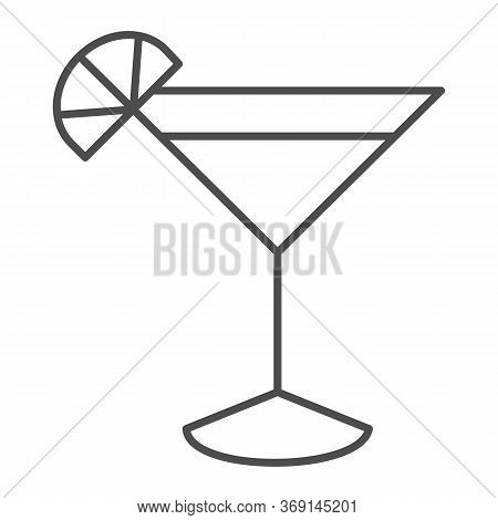 Cocktail Thin Line Icon, Drinks Concept, Martini Cocktail Sign On White Background, Cocktail Glass W