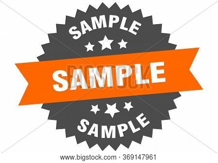 Sample Sign. Sample Orange-black Circular Band Label