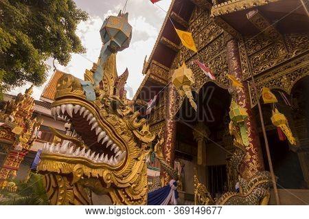 Thailand Chiang Rai Wat Klang Wiang Temple