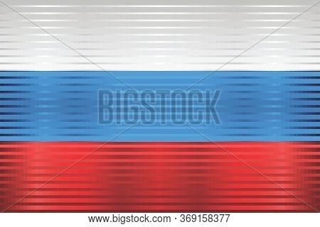 Shiny Flag Of Russia - Illustration,  Three Dimensional Flag Of Russia