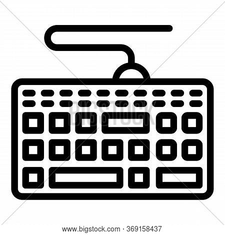Keyboard Icon. Outline Keyboard Vector Icon For Web Design Isolated On White Background