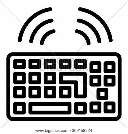 Workplace Keyboard Icon. Outline Workplace Keyboard Vector Icon For Web Design Isolated On White Bac