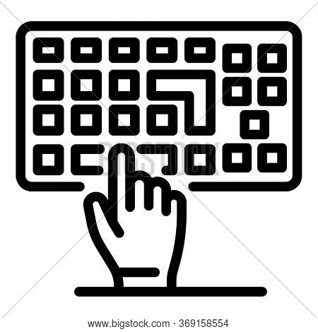 Touch Keyboard Icon. Outline Touch Keyboard Vector Icon For Web Design Isolated On White Background