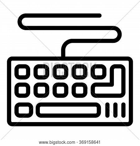 Hardware Keyboard Icon. Outline Hardware Keyboard Vector Icon For Web Design Isolated On White Backg