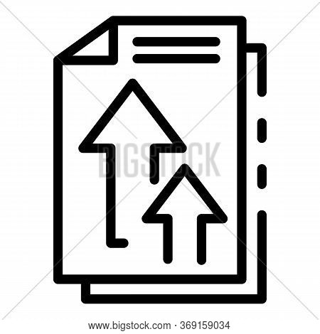 Send Office Documents Icon. Outline Send Office Documents Vector Icon For Web Design Isolated On Whi