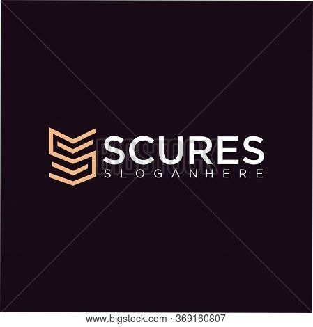 Abstract Letter S Logo Line Luxury Design Vector Template. Gold Linear Logotype Monogram Icon