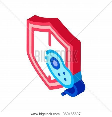 Safeguard Healthcare Bacteria Vector Isometric Sign. Color Isolated Symbol Illustration