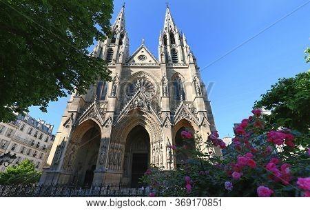 The Catholic Basilica Of Saint Clotilde , Paris, France.