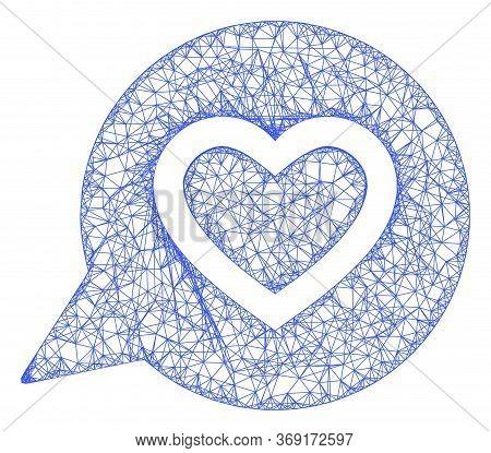 Web Net Favourite Heart Message Vector Icon. Flat 2d Carcass Created From Favourite Heart Message Pi