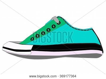 Sneakers Icon Isolated On Background. Fashionable Sneakers