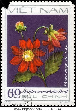 Saint Petersburg, Russia - May 31, 2020: Postage Stamp Issued In The Vietnam With The Image Of The R