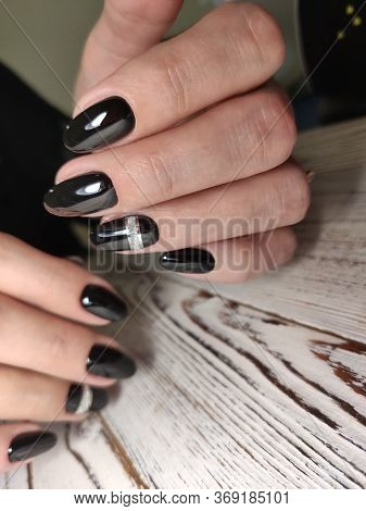 Closeup Photo Of A Beautiful Female Hands With Elegant Manicure