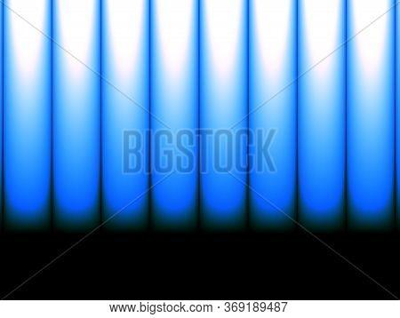 Abstract Advertising, Blue White Ultramarine Periodic, Musical Geometric Horizontal Decorative Dynam