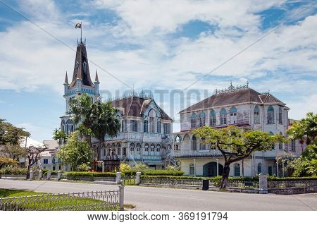 View Of An Old Wooden Fairy-tale Gothic Building With Spires And Turrets On A Clear Sunny Day, The C