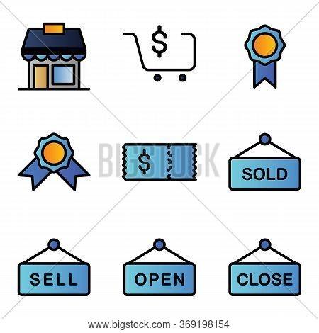 Marketplace Icon Set Include Market, Marketplace, Shop, Store, Sell, Reward, Discount, Marketplace,