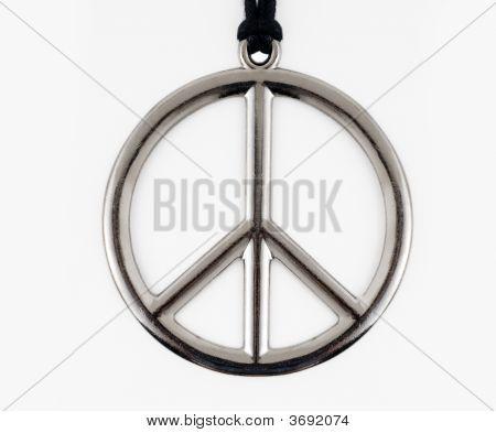 Silver Peace Symbol