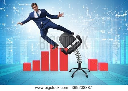 Dismissal and redundancy concept with businessman