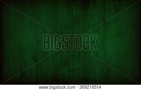 Abstract Grunge Decorative Green Dark Wall Background. Green Concrete Backgrounds With Rough Texture