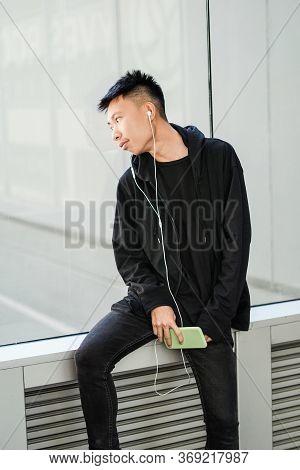 Close Up Young Man In Bangkok Thailand