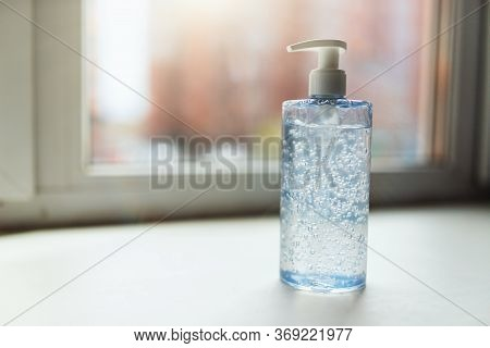 Bottle Of Hand Sanitizer, Antimicrobial Liquid Gel