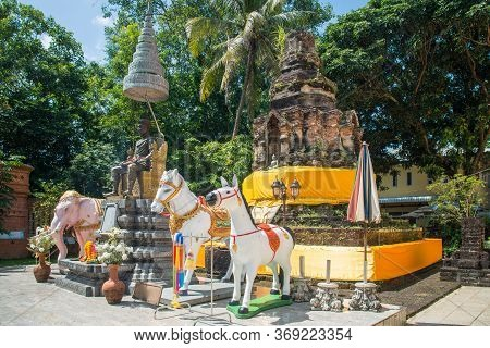 Ancient Pagoda In Chiang Saen Period (old Lanna Kingdom) Located In Wat Ngam Muang Temple An Importa